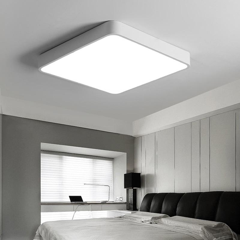 Led Deckenleuchte Modern Eckig aus Acryl für Schlafzimmer