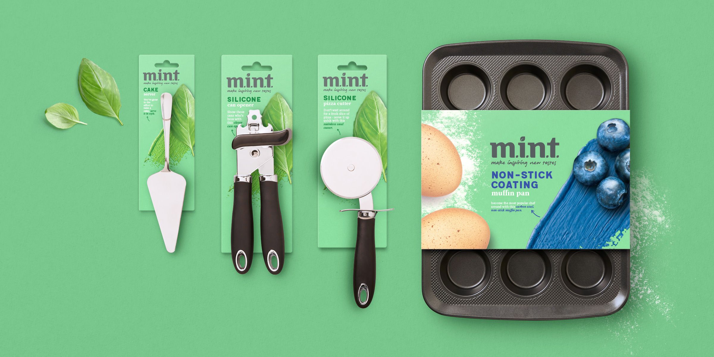 Mint kitchenware branding packaging boxer co