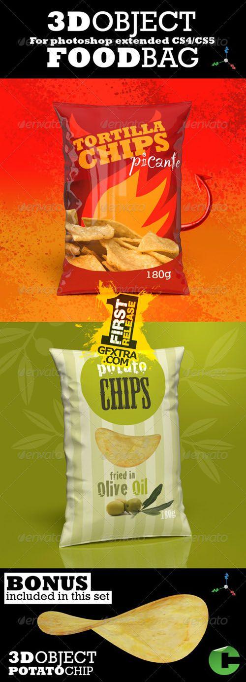 Download Graphicriver 3d Object Food Bag Mock Up Mocking Bag Mockup Mockup