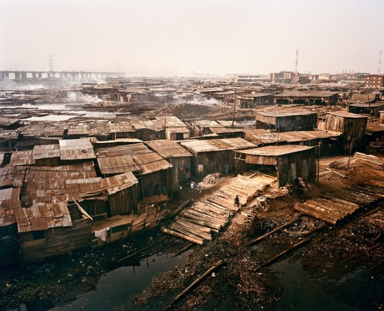 Sawmill and workers houses in Ebute Metta, Lagos, Nigeria, 2009 - By Julian Roeder