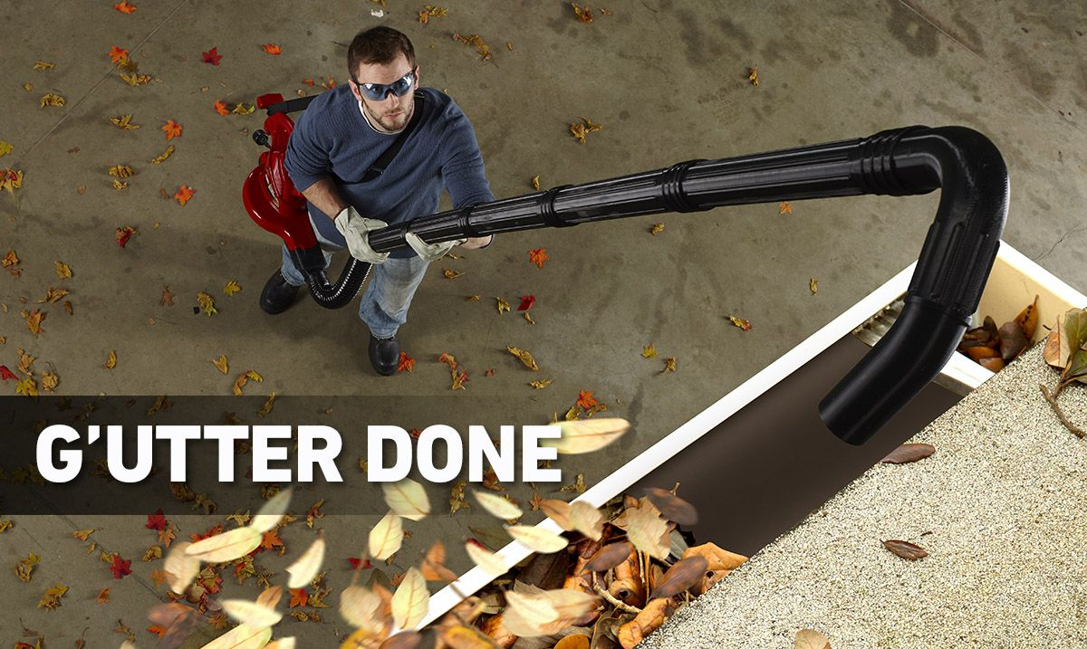 Get those gutters cleaned without leaving the ground with