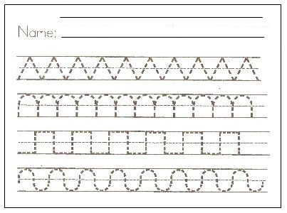 printable handwriting sheet
