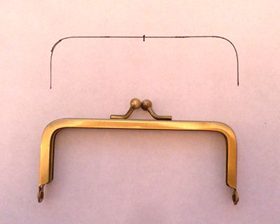 learn how to draft a pattern to make a metal snap frame purse in this handy - Metal Picture Frames