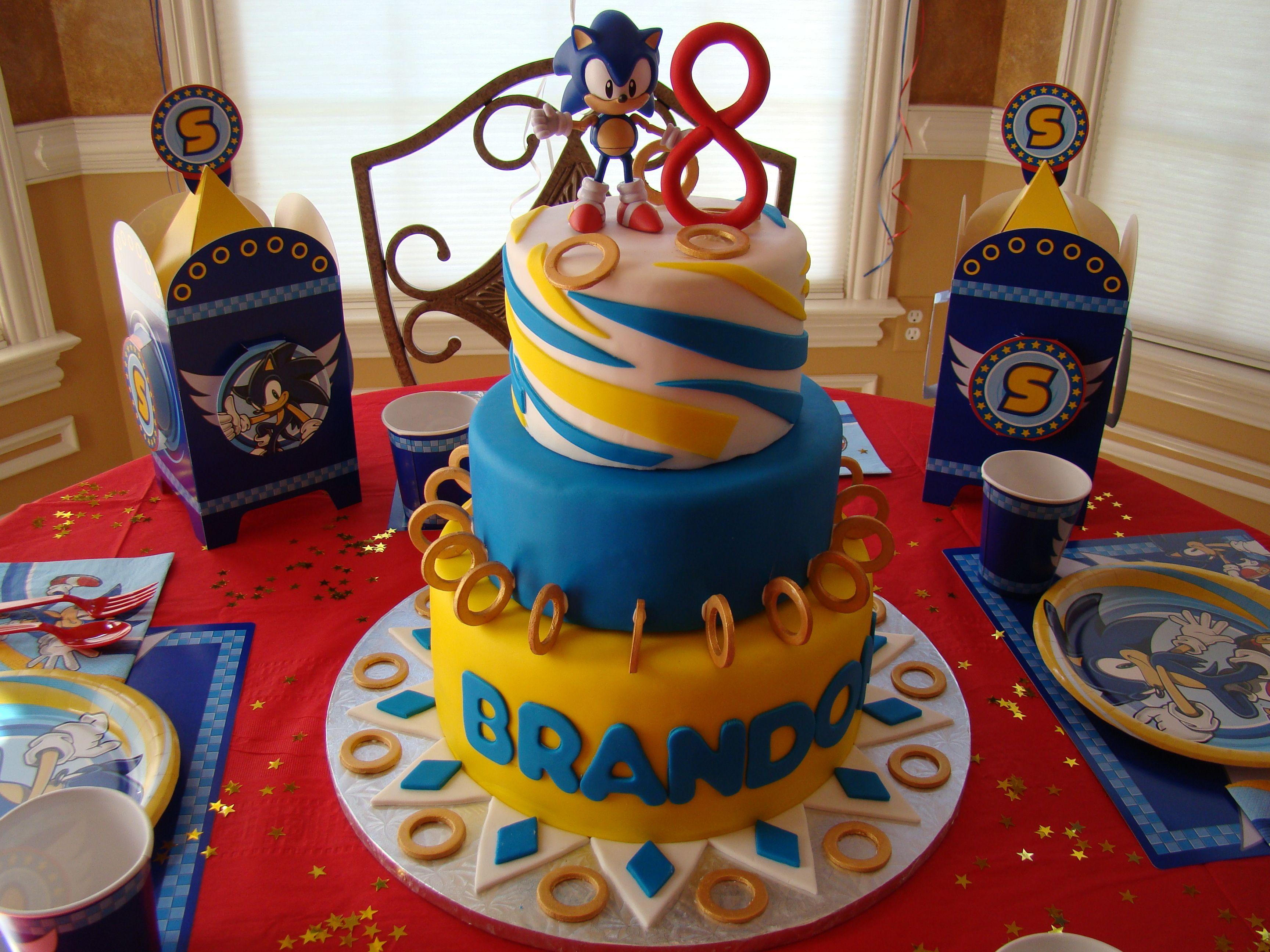 Sonic birthday cake childrens birthday cakes sonic