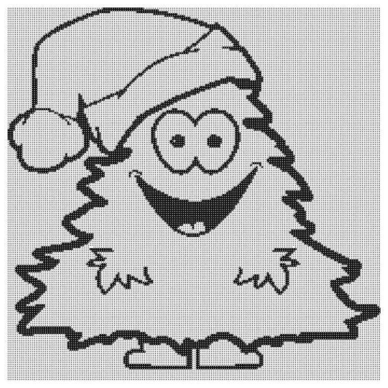 Free Happy Christmas Tree Graph | Christmas tree, Filet crochet and Free