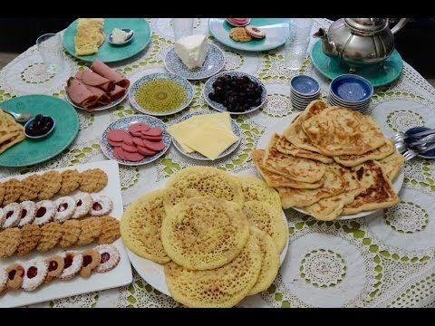 مائدة فطوربلدي او فطور مغربي تقليدي المطبخ المغربي Youtube Moroccan Breakfast Food Breakfast