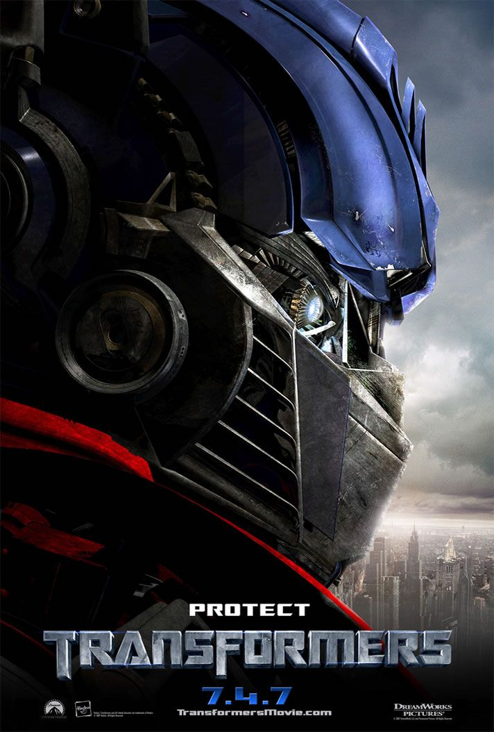 Optimus Prime The Transformer Looks Into The Distance With A City In The Background Transformers Movie Transformers Full Movie Transformers Film