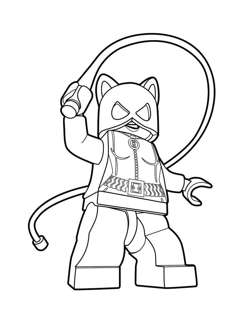 Lego Catwoman Coloring Page Lego Coloring Pages Lego Coloring Catwoman Drawing