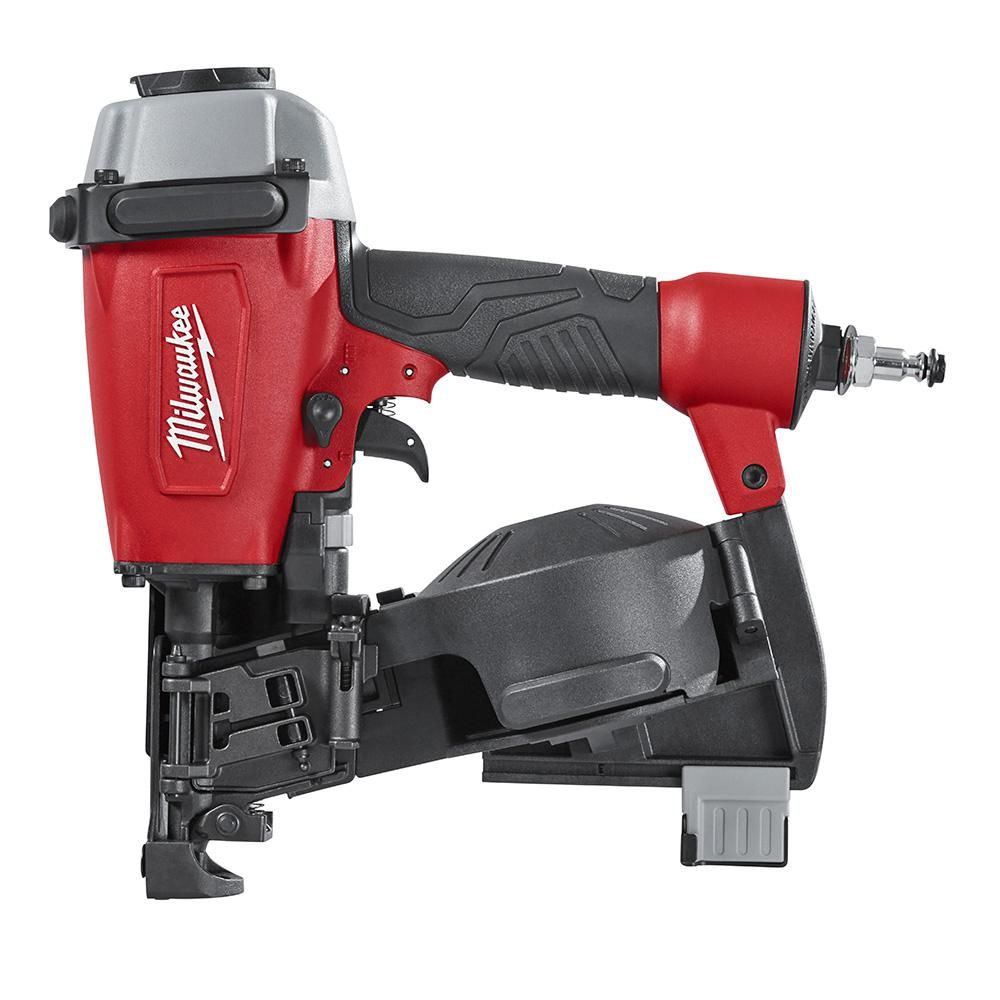 Milwaukee Reconditioned Pneumatic 1 3 4 In 15 Degree Coil Roofing Nailer 7220 80 The Home Depot Roofing Nailer Framing Nailers Cool Roof