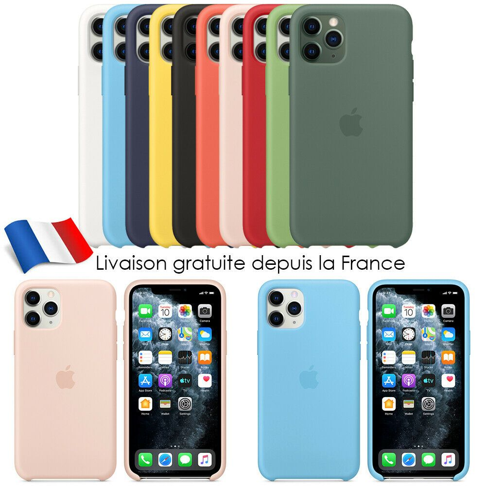 iphone 11 coque silicone couleur