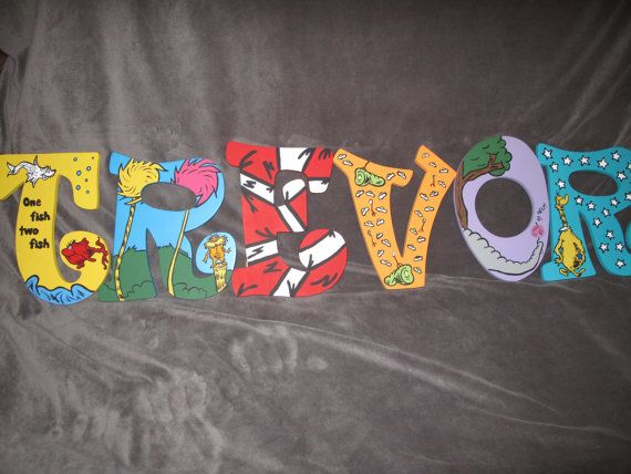 dr seuss inspired hand painted letters by snicklefritzs on etsy 1500