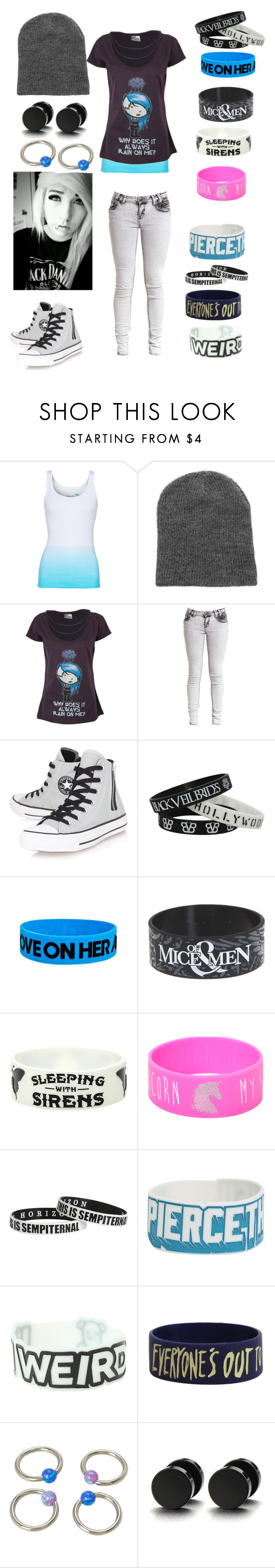 """""""it may rain on you and be foggy for a bit,but you will shine and what you want will come and youll go from that sad little cloud to a bright rainbow"""" by avril-lavigne-fan-forever ❤ liked on Polyvore featuring Juvia and Converse"""