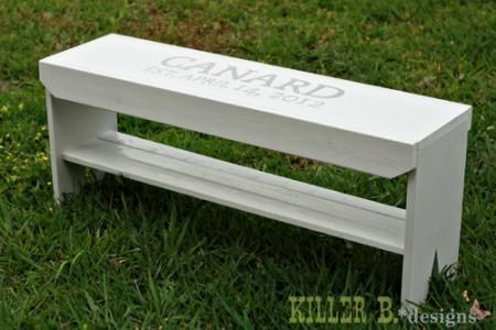 Five board wedding guest book bench do it yourself home projects five board wedding guest book bench diy projects solutioingenieria Images