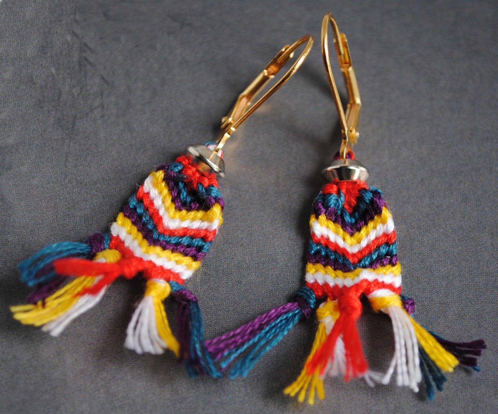 belle id e de faire des mini morceaux de bracelets br siliens en boucle d 39 oreilles cool crafts. Black Bedroom Furniture Sets. Home Design Ideas