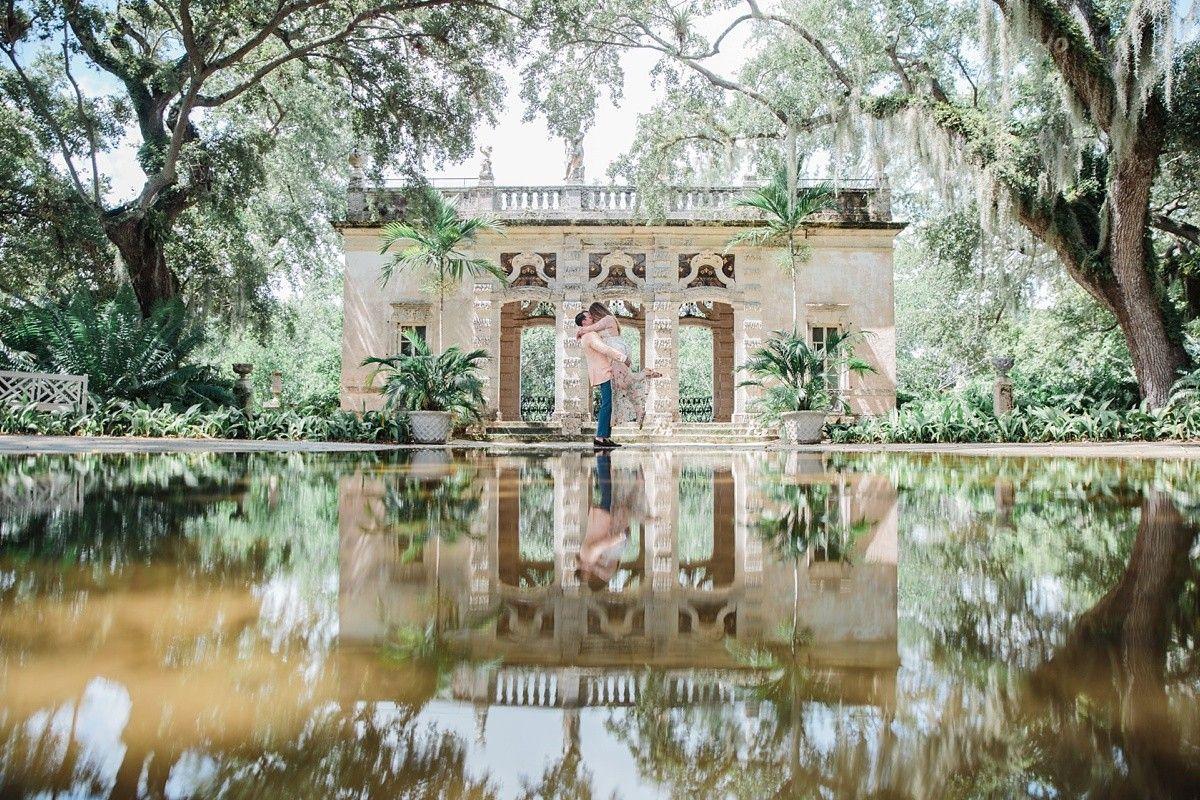 Elegant Vizcaya Museum Engagement Session Miami Florida Photoshoot Miami Photography Vizcaya Wedding Garden Photography