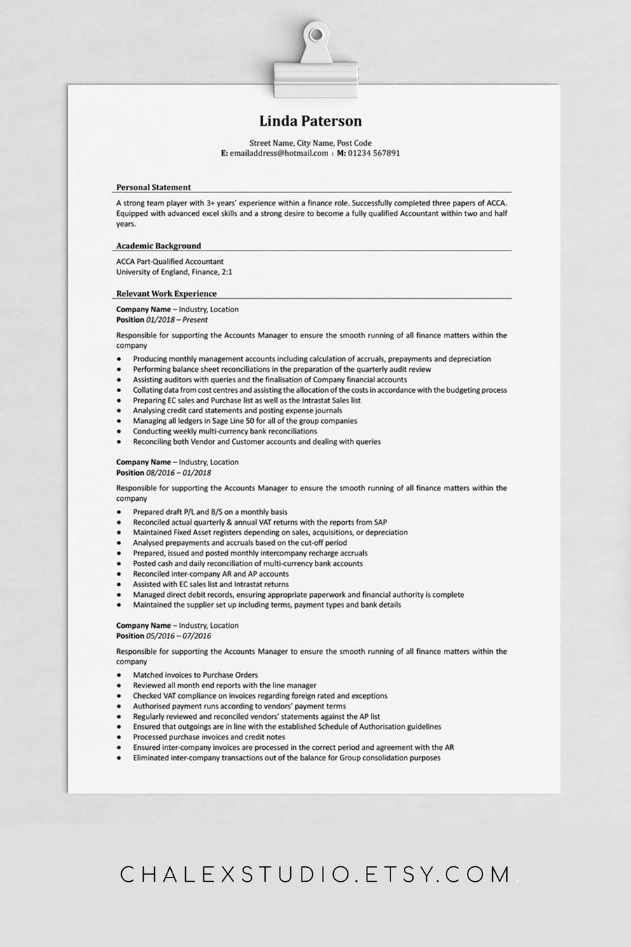Traditional Resume Template Classic Resume Cv Template Word