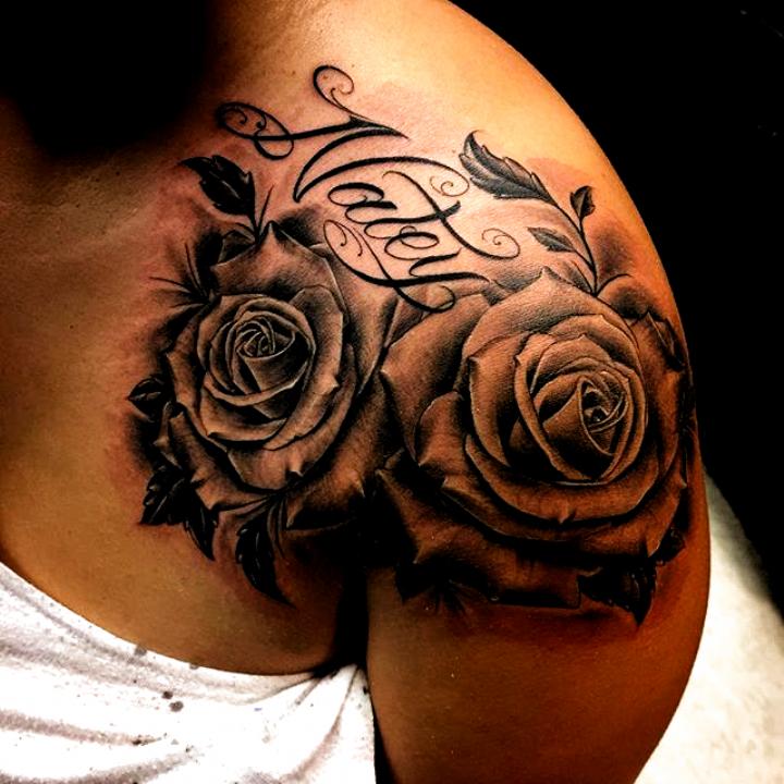 Tattoo Ideas Shoulder Tattoo Ideas Female Shoulder In 2020 Shoulder Tattoos For Women Rose Shoulder Tattoo Rose Tattoos For Women
