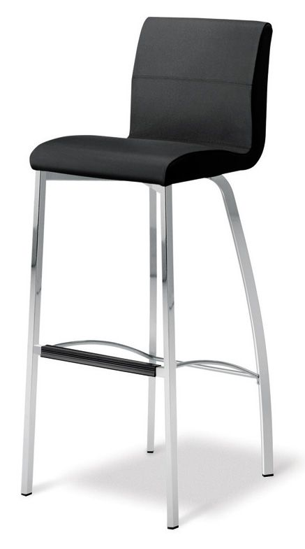 Siena 4 Leg Stool Premium Quality Italian Leather Colour Black This High Quality Stool Has A Fixed Height Seat Mount Bar Stools Stool Breakfast Bar Stools