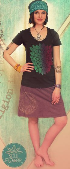 Kaleido Flower, My Religion is Kindness Skirt, Tree Circle headband