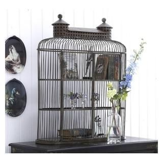 bird cage cloche | ... vintage style french bird cage metal wire cloche french country