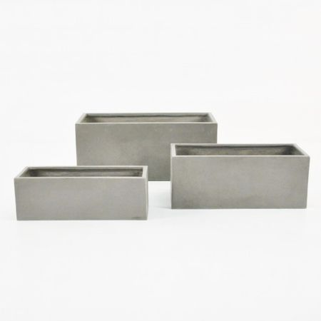 Let Boxhill S Raw Concrete Planter Rectangular Bring Minimalist Style To Your Indoor And Outdoor Rooms Th Concrete Planters Concrete Planter Boxes Planters