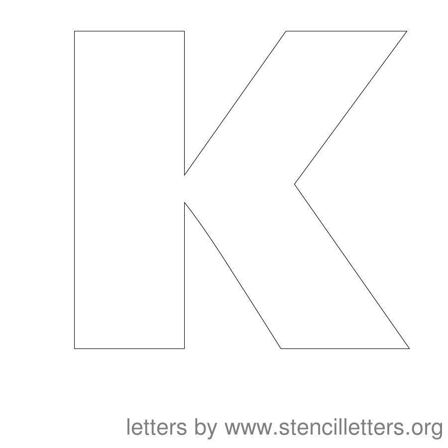 12 Inch Stencil Letter Uppercase K | printables | Letter stencils