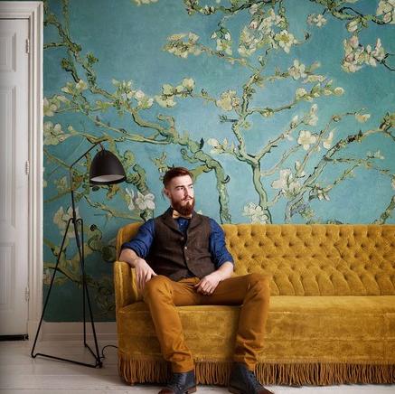 Voca Van Gogh 30548 | Voca Van Gogh | Behang boeken | Behang | behang & fotobehang op maat geproduceerd!