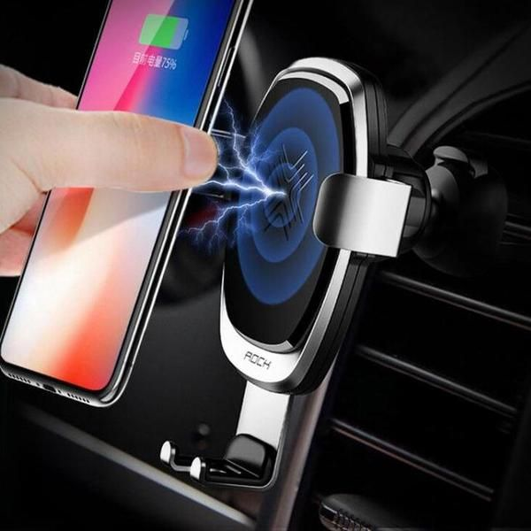 ROCK 10W Fast QI Wireless Car Charger Holder For IPhone X