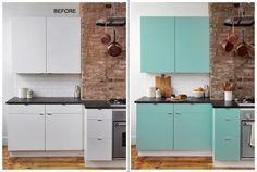 muebles de cocina forrados con vinilo autoadhesivo #vinilo #muebles ...