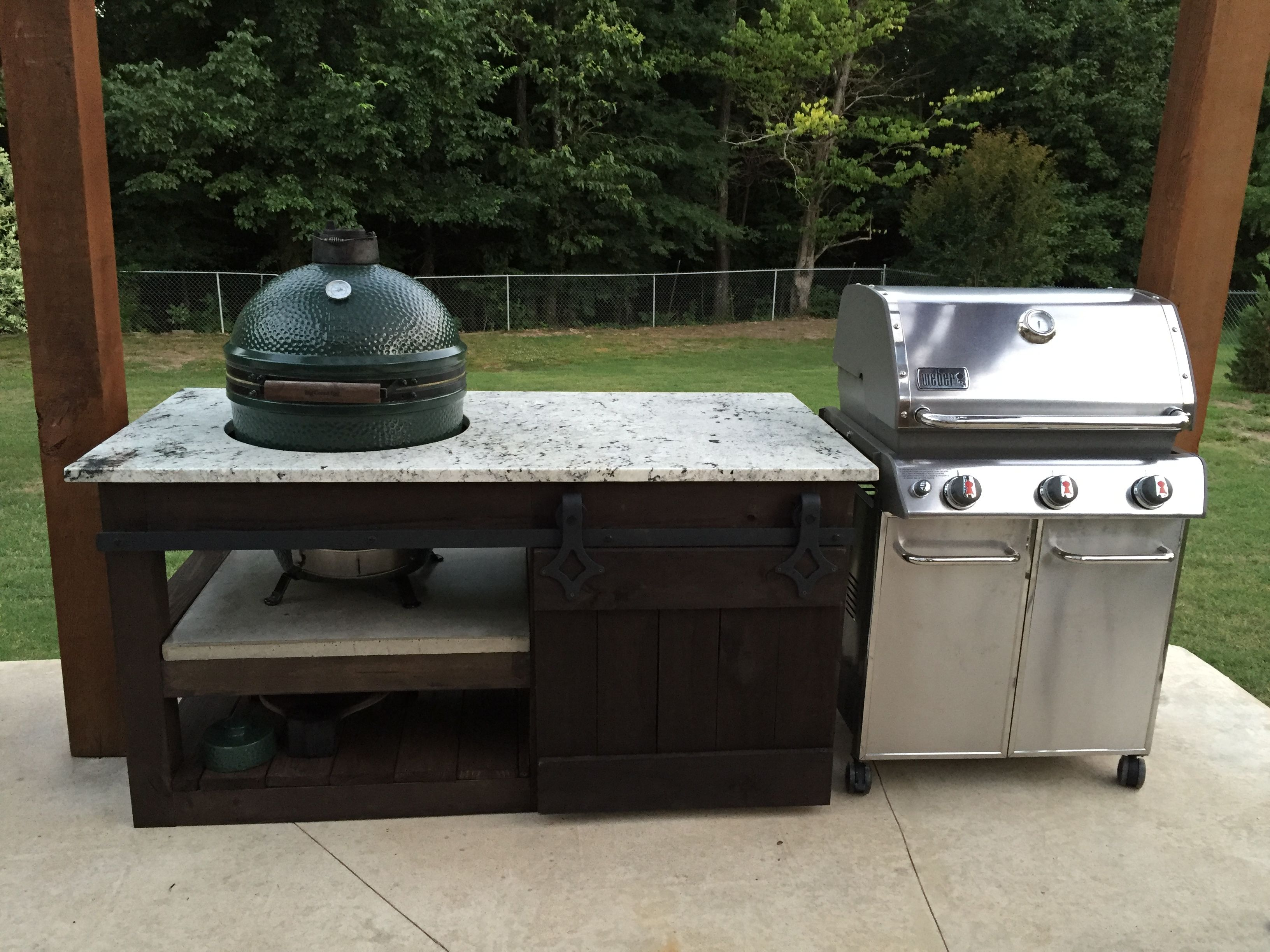 My version of the Big Green egg counter thelowcountrylady