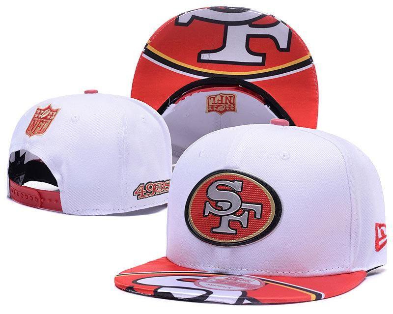 Men s San Francisco 49ers 2017 NFL Draft Spotlight Liquid Chrome Team Logo  Snapback Hat - White   Red ad78d235441