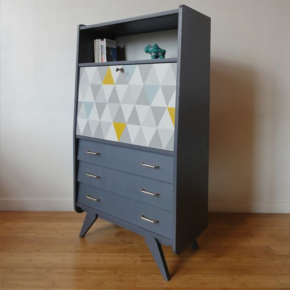 r sultat de recherche d 39 images pour renover secretaire vintage d coration pinterest. Black Bedroom Furniture Sets. Home Design Ideas