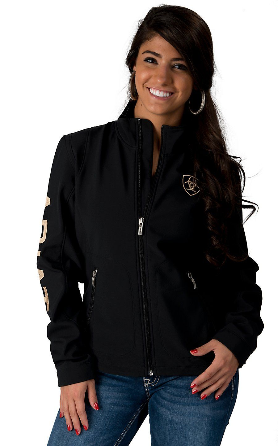036e44f2a90 Ariat Women s Black Team Softshell Jacket from Cavender s ...