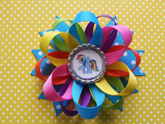 Rainbow Dash My Little Pony Hair Bow Also Available By
