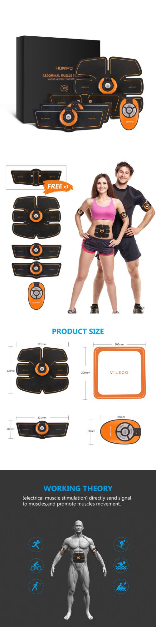 199228ed85dd6 Abdominal Exercisers 15274  Magic Ems Muscle Training Gear Abs Trainer Fit  Body Home Exercise Shape Fitness -  BUY IT NOW ONLY   26.98 on eBay!