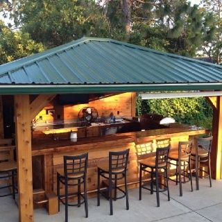 Rustic Outdoor Kitchen And Bar.