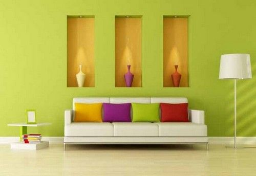 Light Green Color Ideas for Wall Paint | Modern Minimalist Interior ...