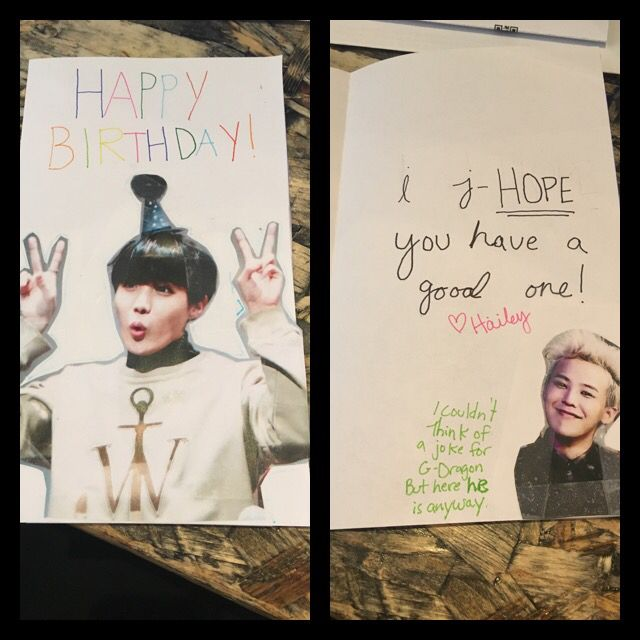 I Made A Birthday Card For My Bother Please Excuse My Terrible Handwriting Birthday Card Puns Bts Birthdays Cards