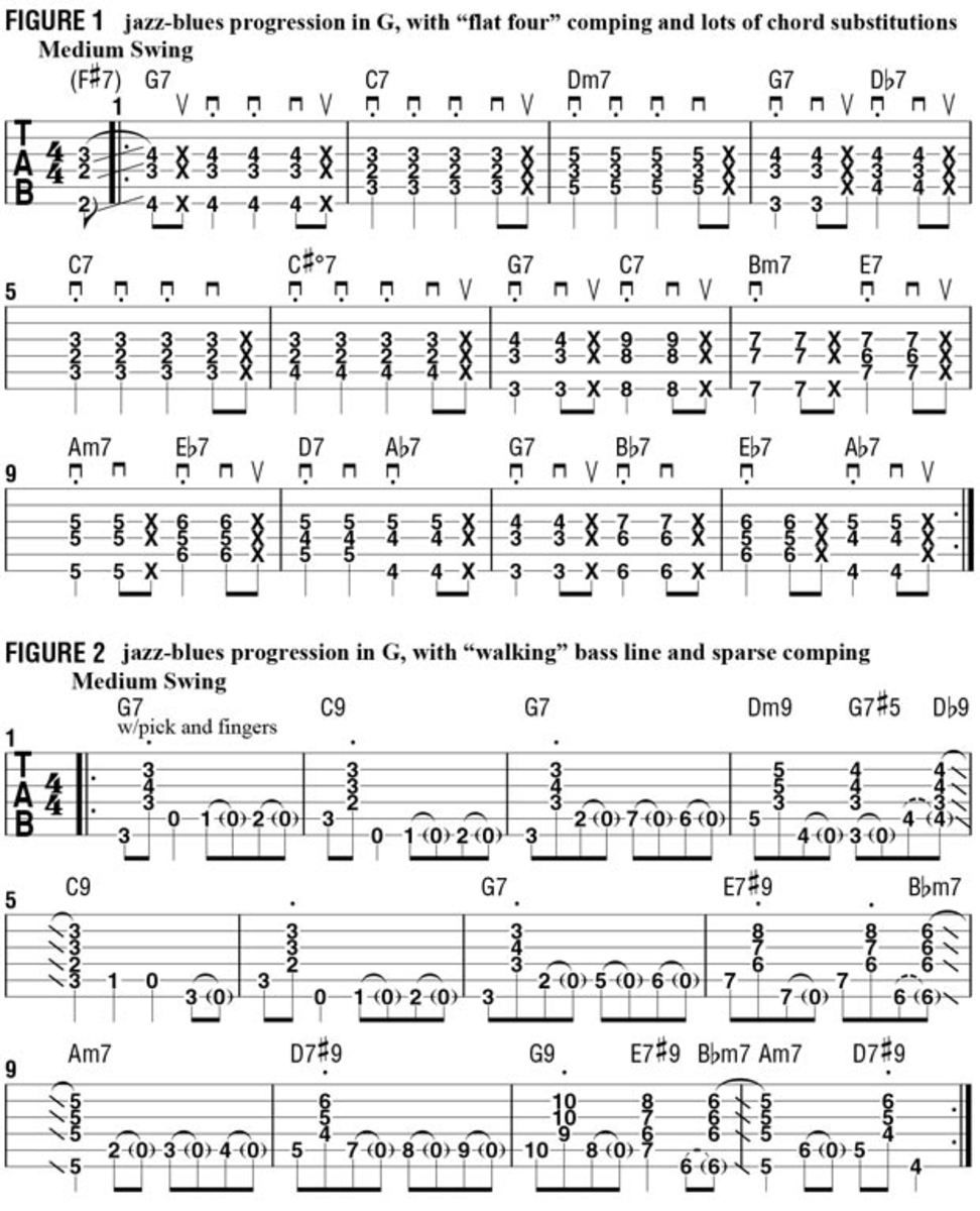 Colorful Jazz Blues Chord Substitutions Jazz Blues Jazz And Guitars