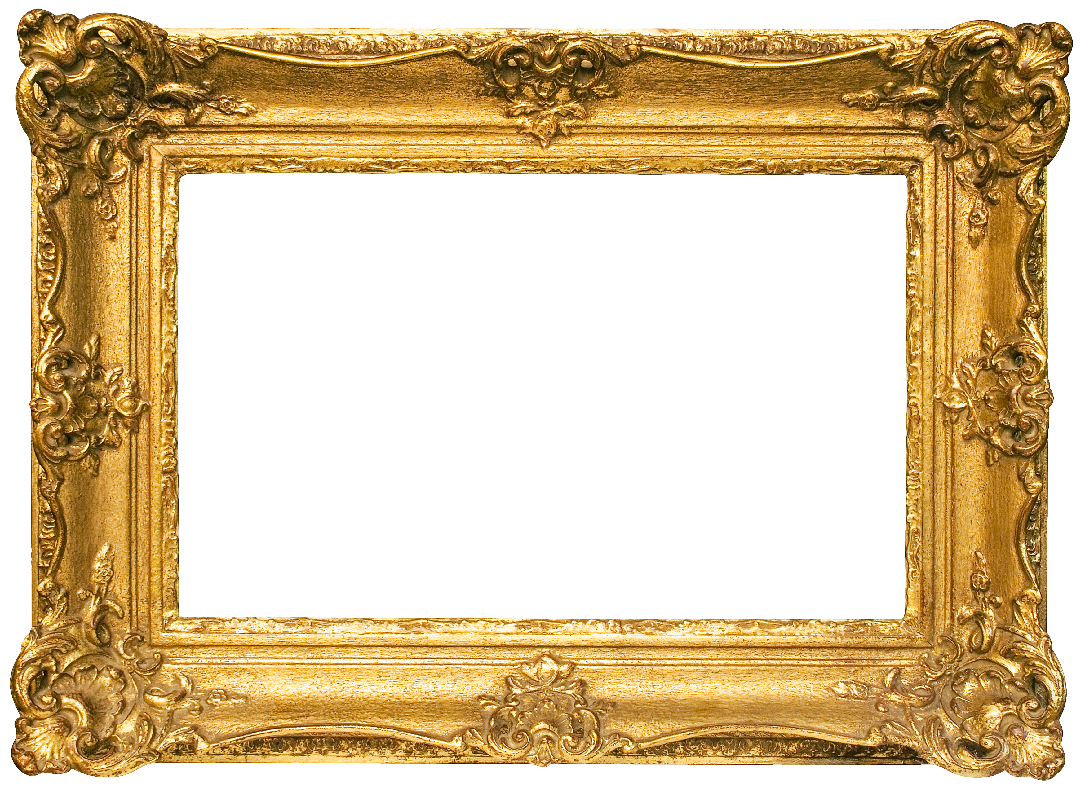 Classic Gold Frame Transparent PNG Image (con imágenes