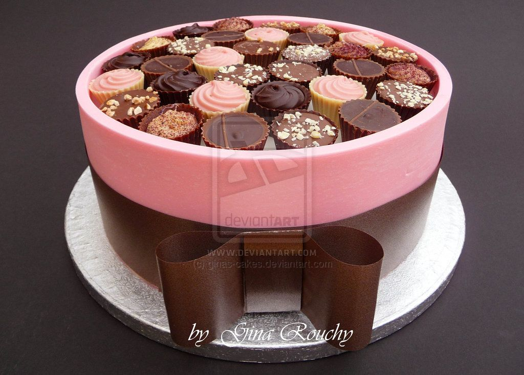 Cake Box Decorating Ideas Pink Chocolate Box Cakeginascakesdeviantart On
