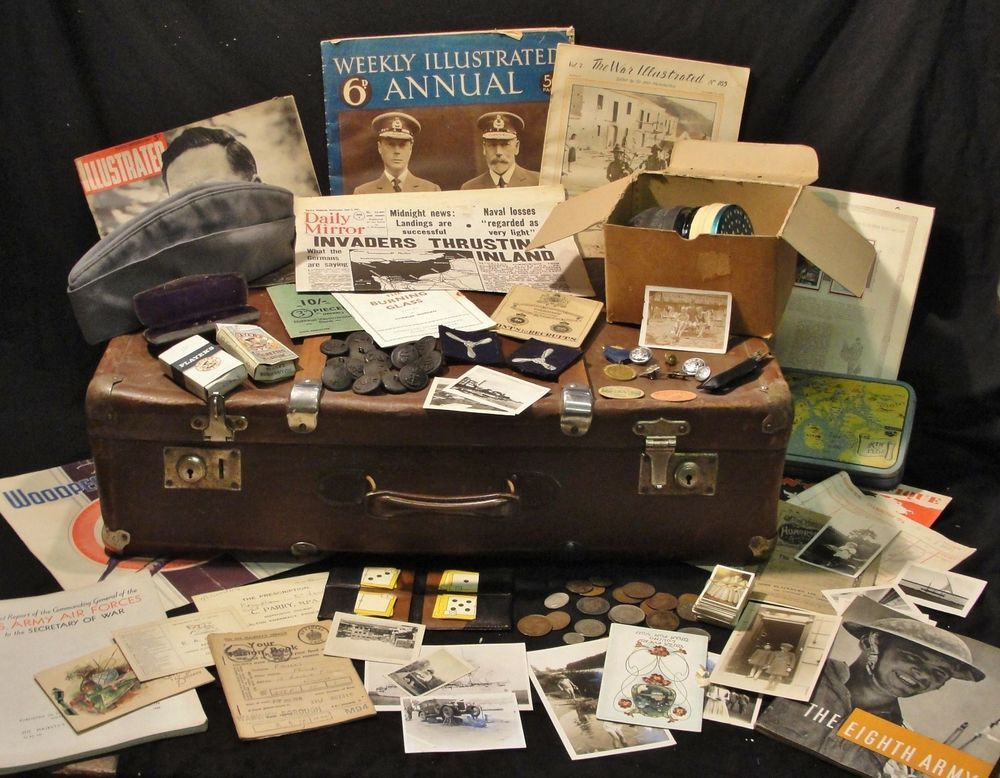 Wartime Memorabilia-1940/'s CHILD/'S SMALL SUITCASE Ideal for School-History Day