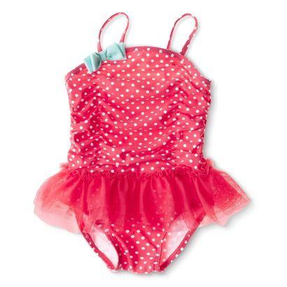One Piece NEW Circo Baby Girls Bathing Suit Swim Swimming Infant 6 12 mo UPF50