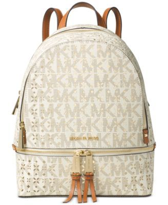0817e52d6a53 MICHAEL KORS Michael Michael Kors Rhea Zip Medium Backpack. #michaelkors  #bags #lining #pvc #backpacks #polyester #