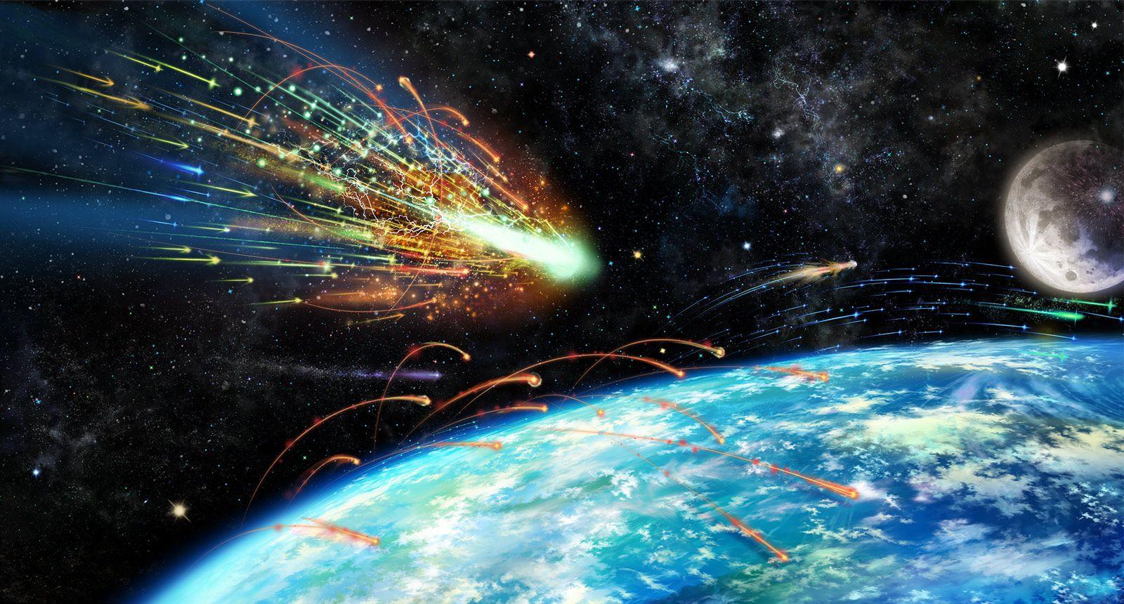 вселенная с кометами картинки можно