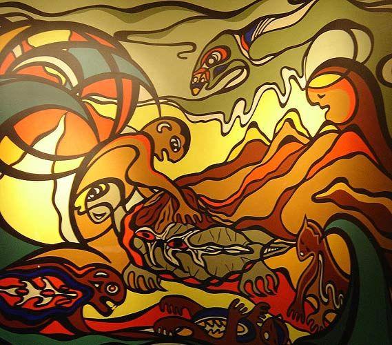 Manitoba Native Plants: Painting By Kim Hunter. It Hangs At The Winnipeg Manitoba
