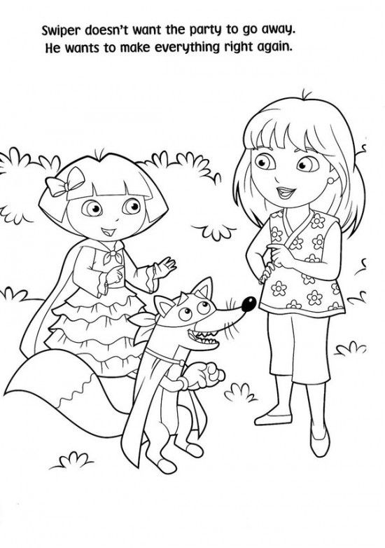 Free Printable Dora Christmas Coloring Pages Picture 37 550x782