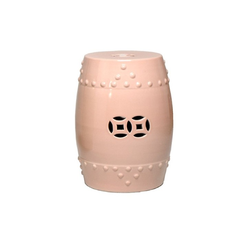 THE WELL APPOINTED HOUSE Prosperity Symbol Garden Stool, Pale Rose