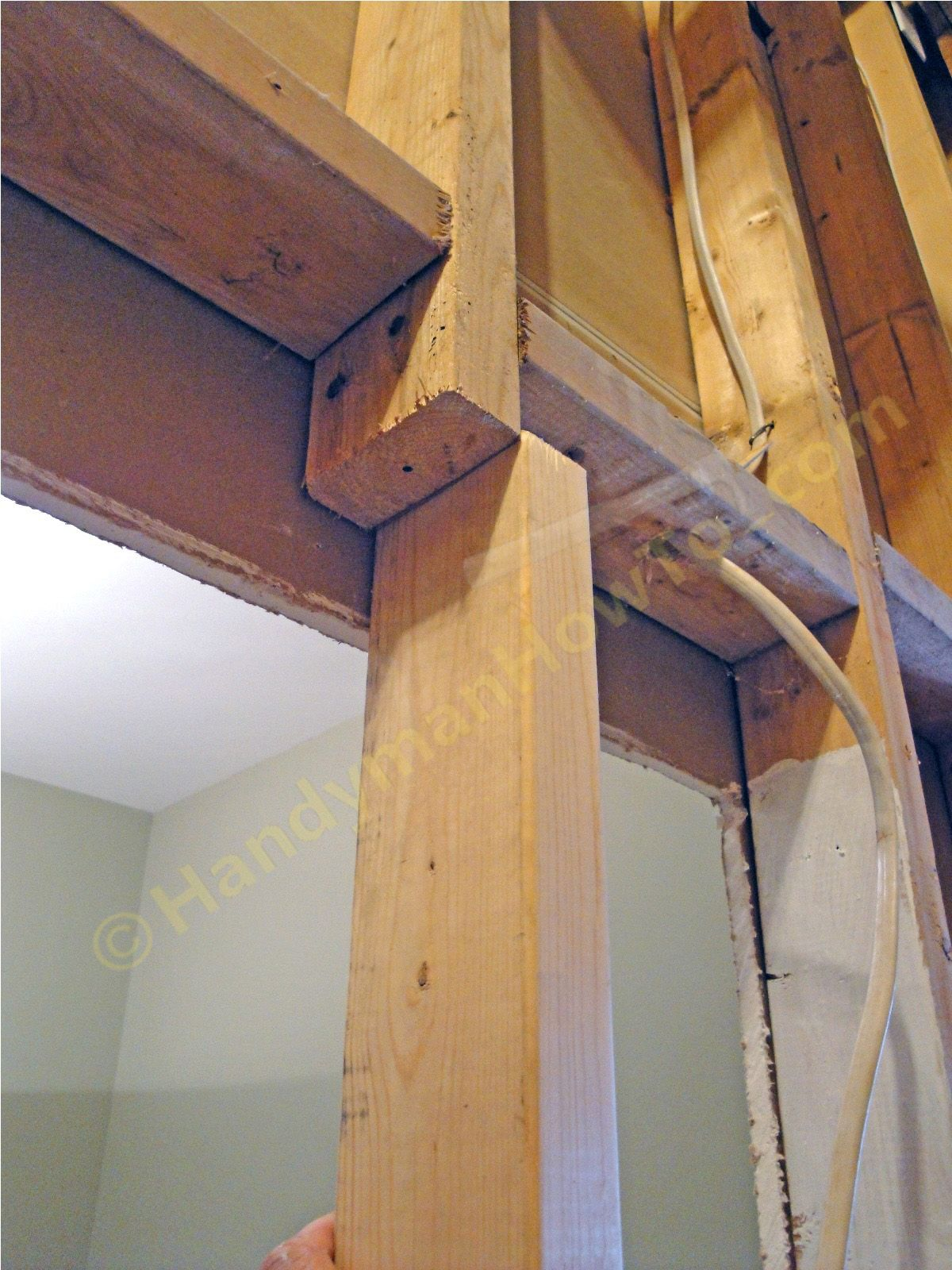 Load bearing wall stud repair mark the 2x4 splice stud for What is a 2x6