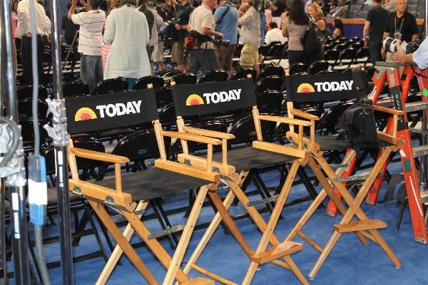 The 'Today Show' set up at TWC Arena.